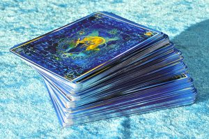 Cards-on-blue